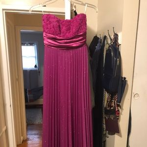 Rose maxi dress with a small stain on the front